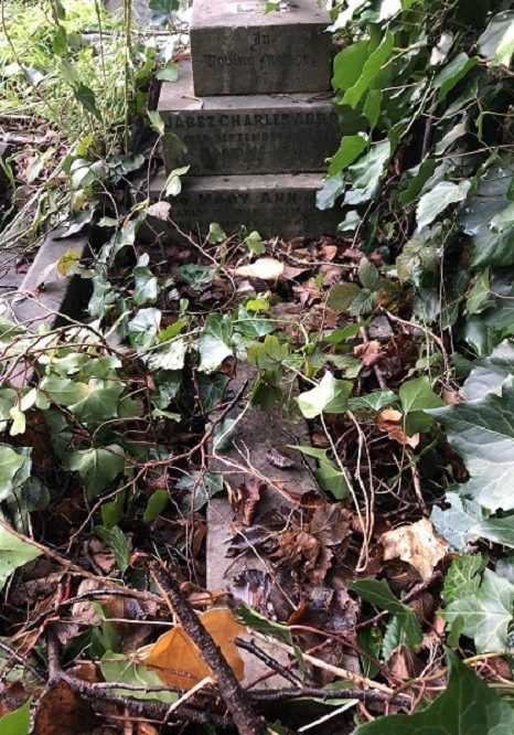 Photograph of headstone for JabezAbbott